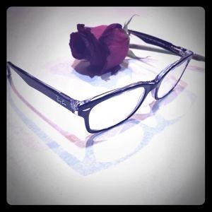 Rayban eyeglasses plastic black 51mm 18 mm 135 mm